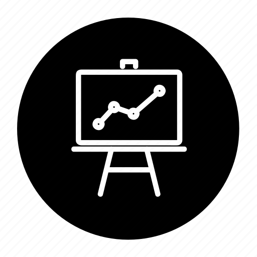 Business, graph, chart, analysis, report, presentation icon