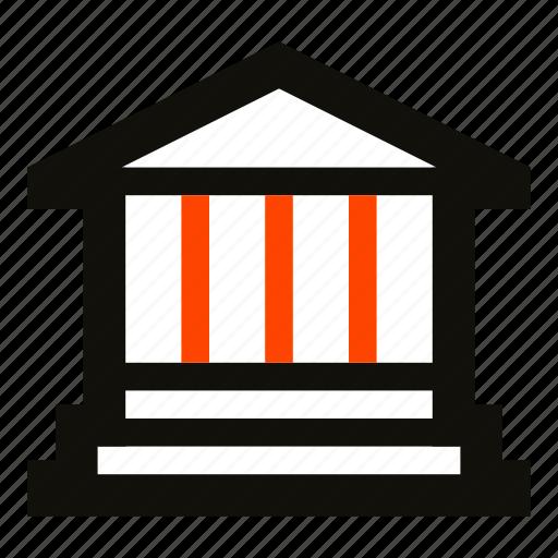 architecture, bank, capital, mansion, municipality, museum, palace icon