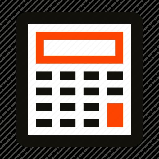 business, calculation, calculator, school, study, summary icon