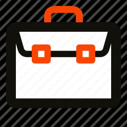 briefcase, business, office, portfolio, suitcase, work icon