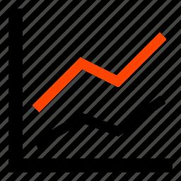 analytics, chart, graph, growth, line, line chart, statistics icon