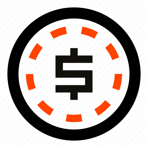 cash, casino, coin, dollar, token, usd icon