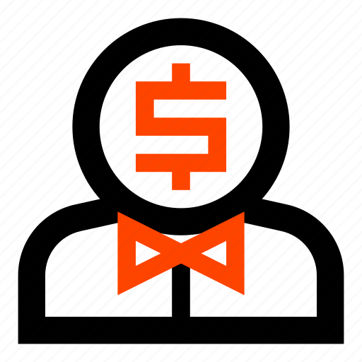 bow tie, businessman, dollar, man, men, money, rich man icon
