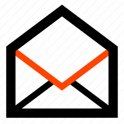email, empty, envelope, letter, mail, open, opened icon