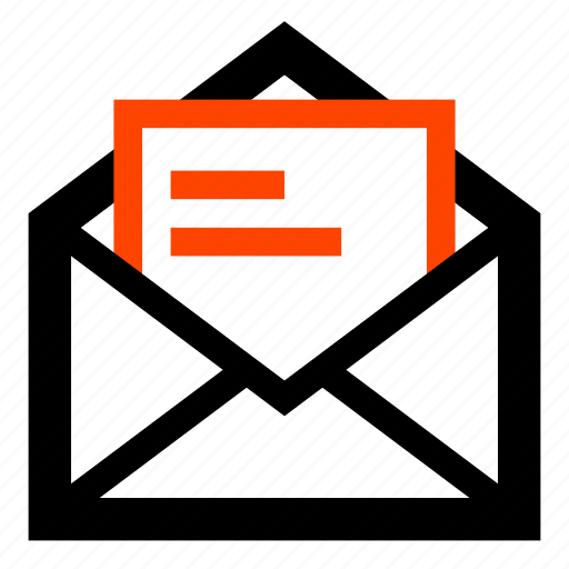 email, envelope, letter, mail, message, opened, read icon