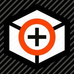 add, box, crate, create, new, shipment, wrapper icon