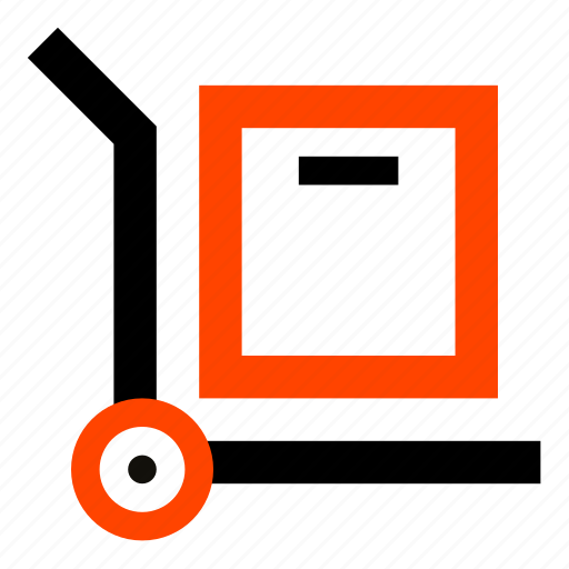 carriage, delivery, hand truck, trolley, warehouse icon