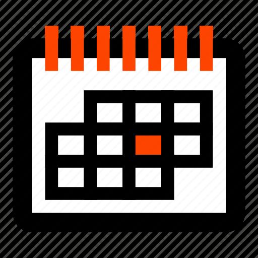 business, calendar, days, event, month calendar, office, work plan icon