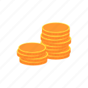 coins, finance, money, taxes icon