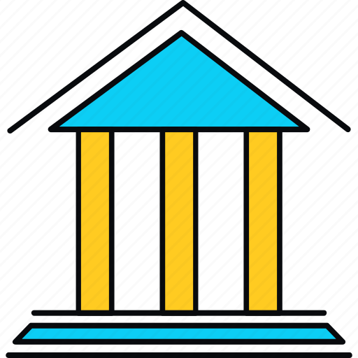 bank, finance, financial, institution, stock, stockroom, treasury icon