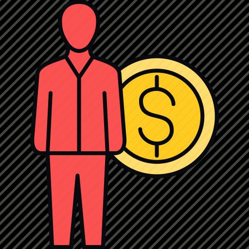 earn, earning, earnings, employee, money, salary icon