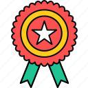 badge, best, medal, reward, ribbon, star, winner icon