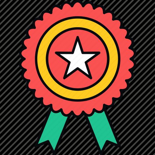 badge, best, medal, reward, ribbon, star, winner icon