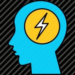 idea, innovation, iq, mind, thought icon