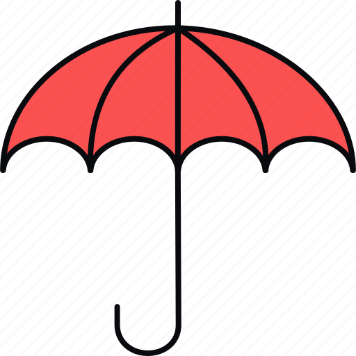 cover, insurance, protection, safety, security, umbrella icon
