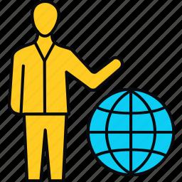 global, globe, international, work icon