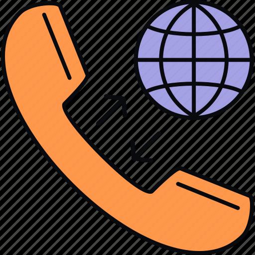 calling, global, international, world, worldwide icon