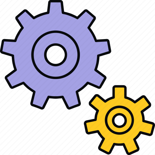 configuration, gear, process, processing, setting, settings icon