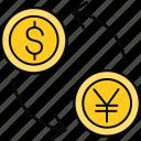 money, convert, dollar, transfer, yen, currency, finance