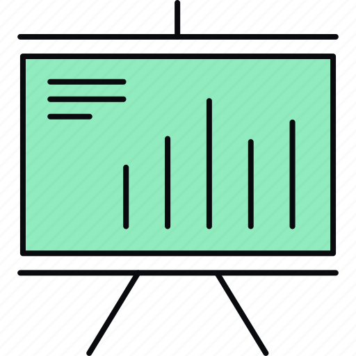 analysis, board, business, diagram, presentation, report, statistics icon