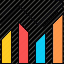 analysis, chart, graph, presentation, report, revenue, sales icon