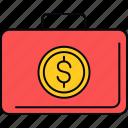 bag, briefcase, money, payment, finance