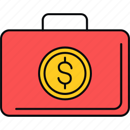 bag, briefcase, finance, money, payment icon