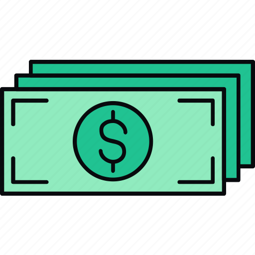 cash, currency, dollar, finance, money, payment icon