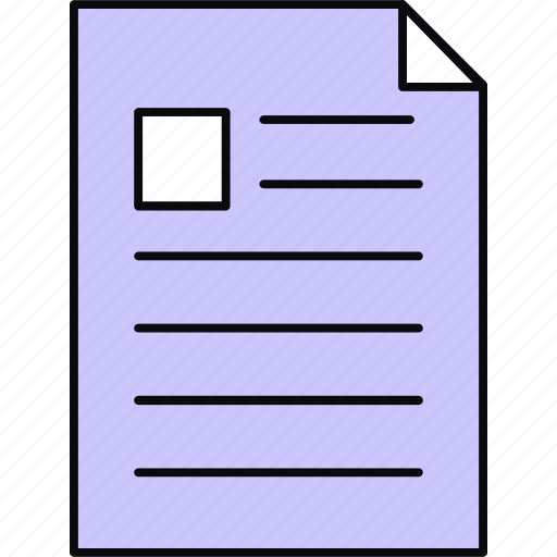 document, format, page, paper, sheet, text icon