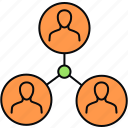 bonding, business, connection, group, network, social, team icon