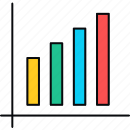 analysis, chart, graph, growth, increase, progress, report icon