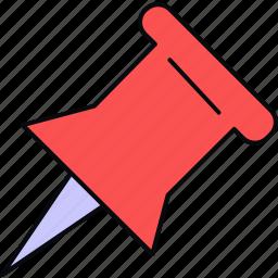 nib, pin, point, pointer icon