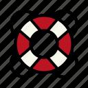 help, lifebuoy, sailor icon