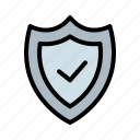 security, shield, tick icon