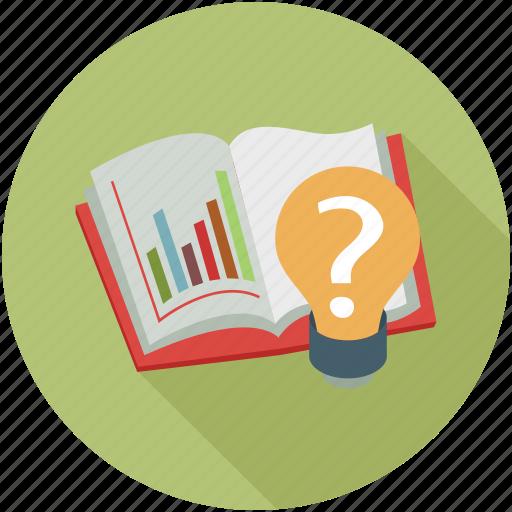 book, graphs, idea icon