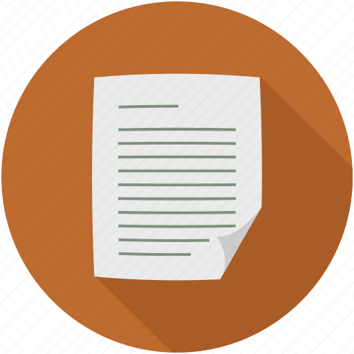 document, file, page, sheet icon