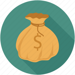 bag, bag money, dollars in bag, money bag, money bundle icon