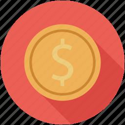 bitcoin, coin, dollar icon