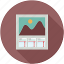 calendar, dates, monthly, planner, schedule, three months calendar icon