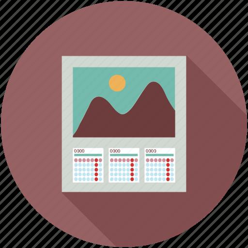 calendar, dates, monthly, planner, schedule, three months calendar icon