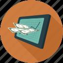 analytics, money, sales, statistics icon