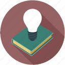 book, buld, idea, innovation, knowledge and innovation icon