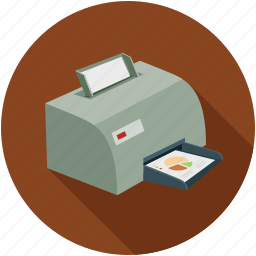 devices, hardware, print documents, printer icon