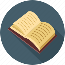 book notes, book pages, notes, open book icon