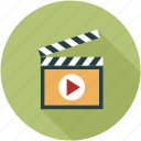 movie, movie clip, multimedia, play, play movie, player, video icon