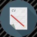 application, candidate cv, curriculum vitae, cv, resume icon