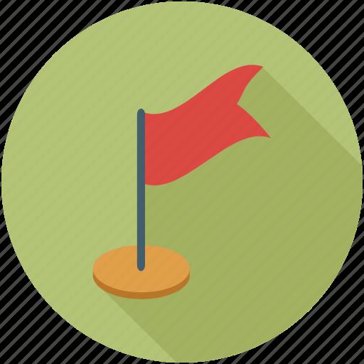flag, golf flag, red flag, winning flag icon