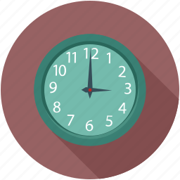clock, time, wall clock icon