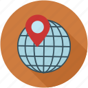 location, marked location, marker, pin, world icon