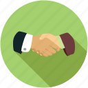 hand shake, partnership, shake hands icon